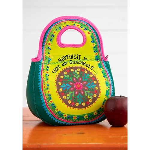 FOR HER: NATURAL LIFE NEOPRENE LUNCH BAG HAPPINESS ISCHIP BAG361